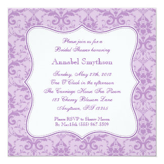 Damask Purple Elegance Invitation