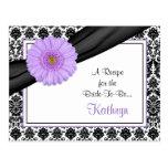 Damask Purple Gerber Recipe Card for the Bride