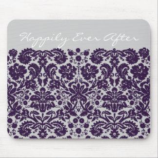 Damask Purple Wedding Mouse Mat