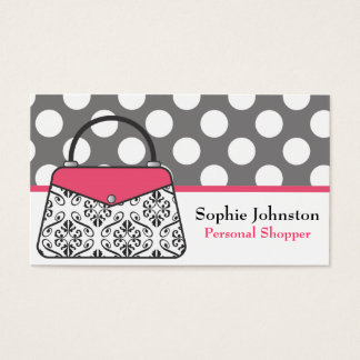 Damask Purse Handbag Business Calling Cards