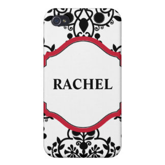 DAMASK RED FRAME iPhone 4/4S CASE