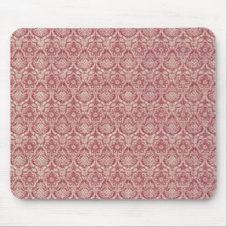 Damask Red Pattern Mouse Mat