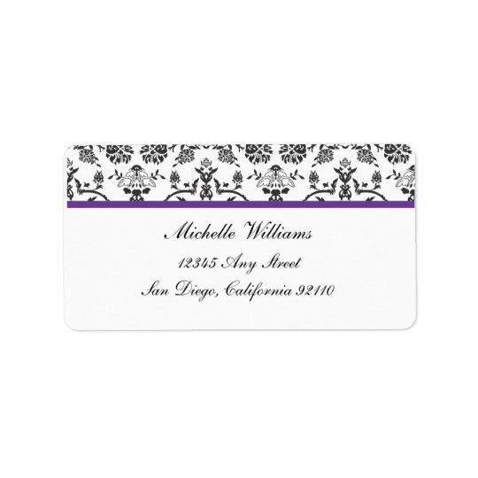 Damask Return Address Label