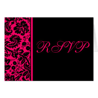 Damask RSVP Notecard Template - Choose your colors Cards
