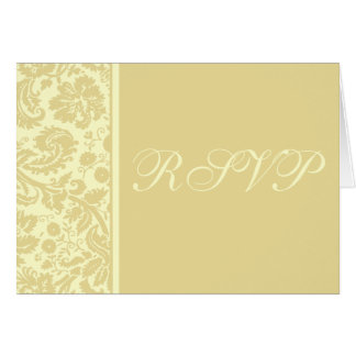 Damask RSVP Notecard Template - Choose your colors Note Card