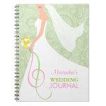 Damask Sage Green Bridal Wedding Journal Planner