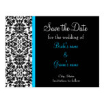 Damask Save the Date Postcard