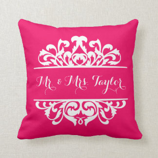 Damask Signature DIY CHOOSE YOUR BACKGROUND COLOR Throw Cushions