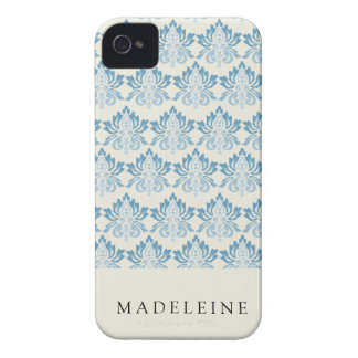 Damask Soft Blue iPhone 4 Covers