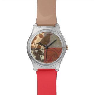 Damask Sparrow Wrist Watches