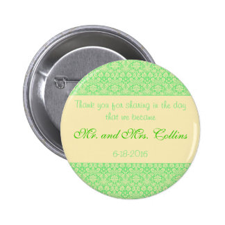 Damask Special Occasion Wedding Thank You Button