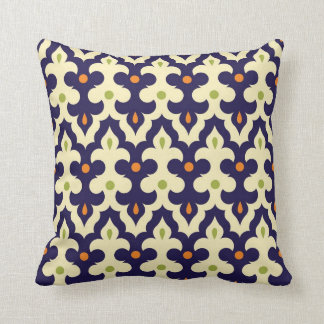 Damask Spring arabesque Moroccan pattern preppy Cushion