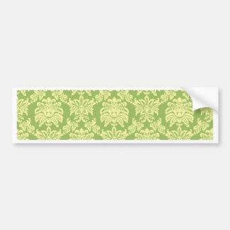 Damask - Spring Green Bumper Sticker