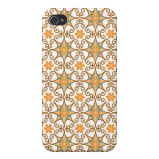 Damask star flowers arabesque Moroccan pattern Cases For iPhone 4