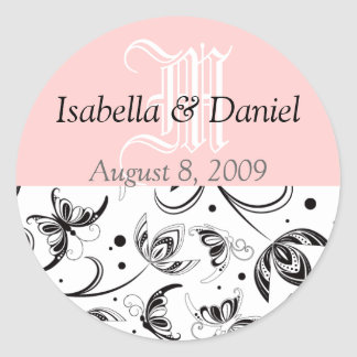 Damask Stickers Monograms Gifts Seals