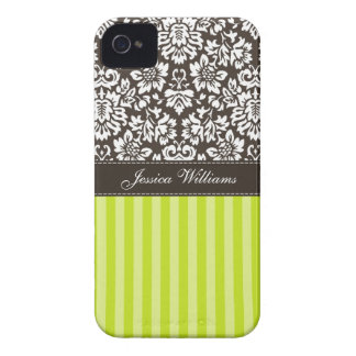 Damask & Stripes iPhone 4 Case-Mate Cases