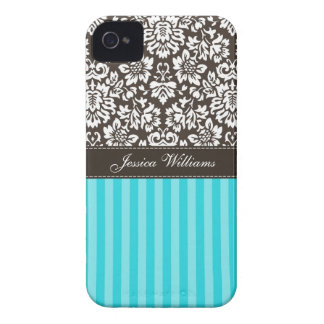 Damask & Stripes iPhone 4 Cases