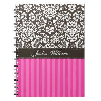 Damask & Stripes Spiral Notebook