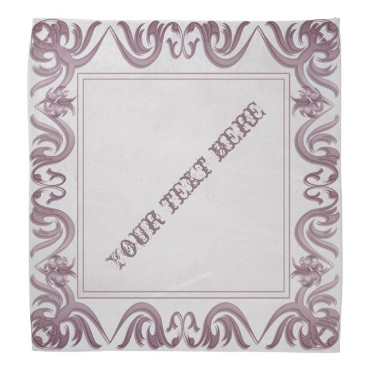damask style frame on grunge background.text. kerchiefs