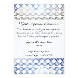 Damask Summer White Clouds + Blue Skies 13 Cm X 18 Cm Invitation Card