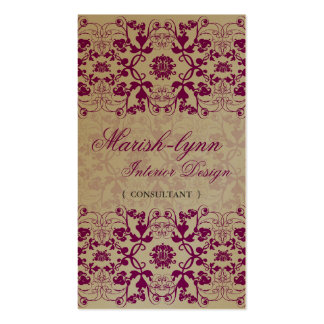 Damask Swirls Lace Orchid Custom Profile Card / Pack Of Standard Business Cards