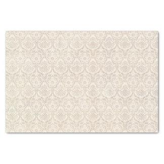 "Damask Vanilla Pattern 10"" X 15"" Tissue Paper"