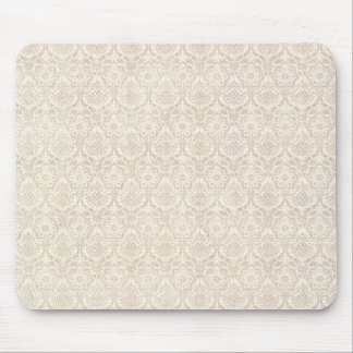 Damask Vanilla Pattern Mouse Mat