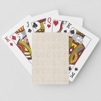 Damask Vanilla Pattern Playing Cards