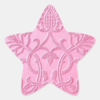 damask velvet pink girly victorian pattern textile stickers