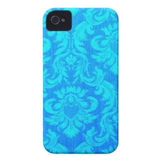 Damask very blue textile pattern elegant chic fun iPhone 4 covers