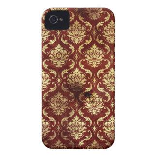 damask vintage antique red blackberry bold case