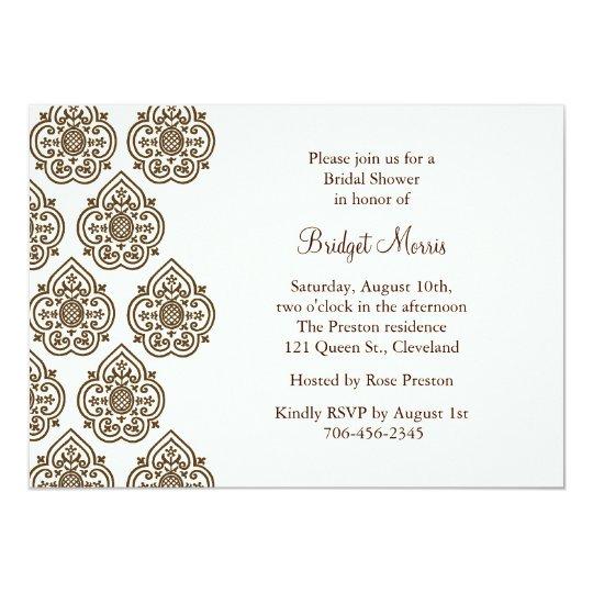 Damask Vintage Bridal Shower Invitation