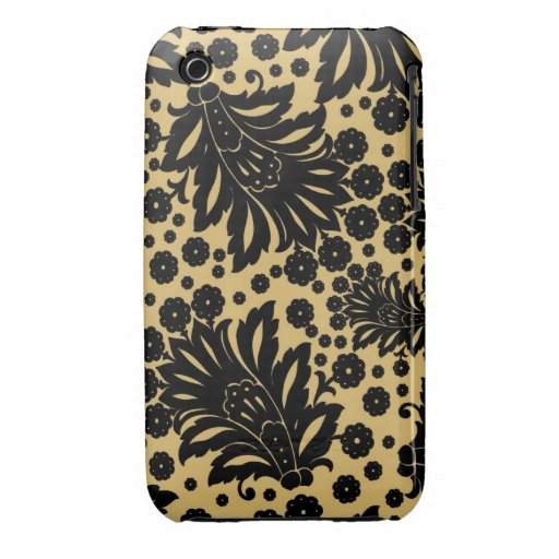 Damask vintage paisley feather floral pattern iPhone 3 cover