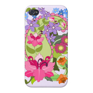 Damask vintage Paisley Floral elegant iPhone 4/4S Covers