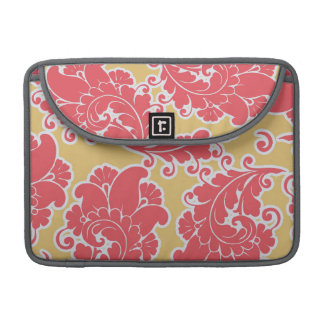 Damask vintage paisley girly chic floral pattern sleeve for MacBook pro