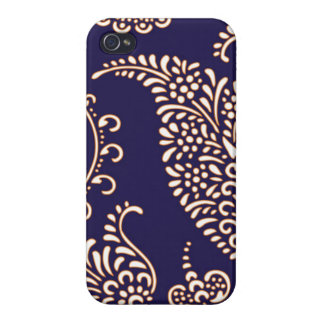 Damask vintage paisley girly floral chic pattern case for iPhone 4