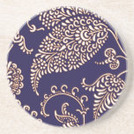 Damask vintage paisley girly floral chic pattern drink coasters