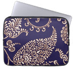 Damask vintage paisley girly floral chic pattern laptop sleeves