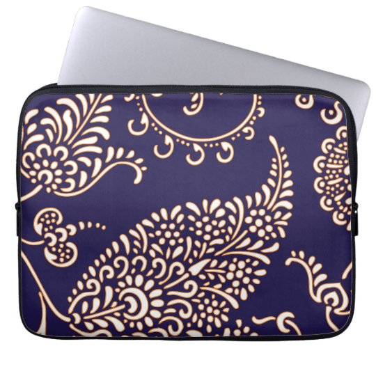 Damask vintage paisley girly floral chic pattern laptop
