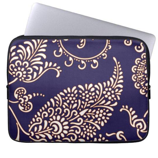 Damask vintage paisley girly floral chic pattern laptop