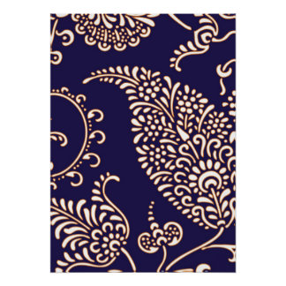 Damask vintage paisley girly floral chic pattern poster
