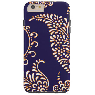 Damask vintage paisley girly floral henna pattern tough iPhone 6 plus case