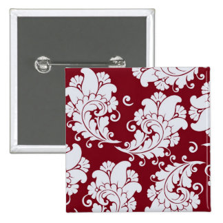 Damask vintage paisley wallpaper floral pattern 15 cm square badge