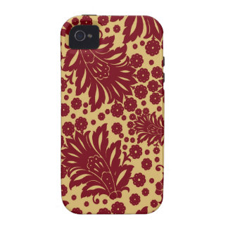 Damask vintage paisley wallpaper floral pattern 4 vibe iPhone 4 cases
