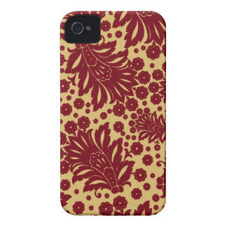 Damask vintage paisley wallpaper floral pattern 4S iPhone 4 Cover