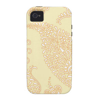 Damask vintage paisley wallpaper floral pattern 4S iPhone 4/4S Covers