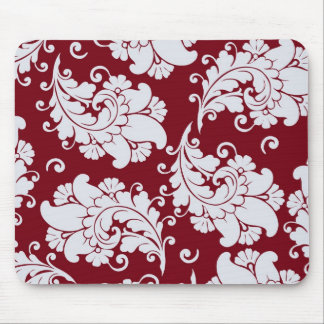 Damask vintage paisley wallpaper floral pattern mouse mat