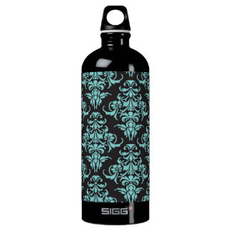 Damask vintage wallpaper blue girly chic SIGG traveller 1.0L water bottle