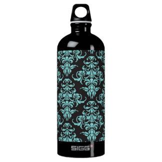 Damask vintage wallpaper blue girly chic SIGG traveler 1.0L water bottle
