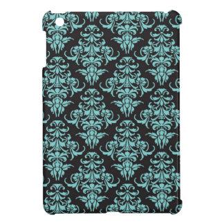 Damask vintage wallpaper blue pattern iPad mini covers